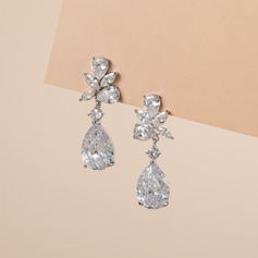 Ladies' Exquisite Copper/Zircon Earrings For Bride/For Bridesmaid/For Mother (011206920)