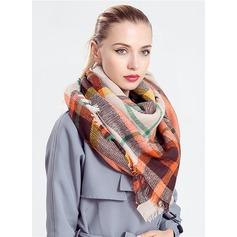 Tela escocesa de gran tamaño/Clima frío Acrílico/La lana artificial Poncho (204170836)