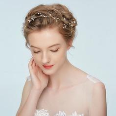 Damen Elegant Legierung Stirnbänder mit Strass/Venezianischen Perle (In Einem Stück Verkauft)