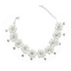 Damer Iögonfallande Kristall/Strass/Fauxen Pärla Pannband med Strass/Venetianska Pärla/Kristall (Säljs i ett enda stycke)