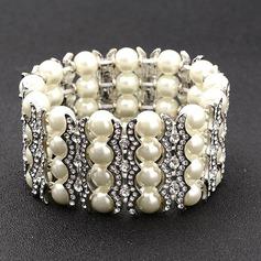 Utsökt Legering/Strass/Fauxen Pärla Armband