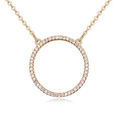 Style Classique Cuivre/Zircon de/Plaqué or/Argent plaqué/Plaqué or rose avec Zircon cubique Colliers
