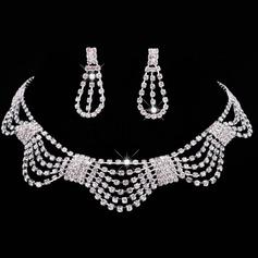Aleación/Diamantes de imitación con Rhinestone Señoras' Sistemas de la joyería