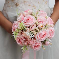 Tyylikäs Pyöreä Silkki kukka Morsiamen kukkakimppuihin - Morsiamen kukkakimppuihin