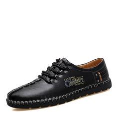 Мужская натуральня кожа шнуровка вскользь Men's Loafers