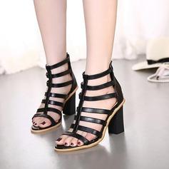 De mujer Cuero Tacón ancho Botas Encaje Botas al tobillo zapatos