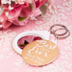 Personalized Plastic Compacts/Keychains (Set of 5)