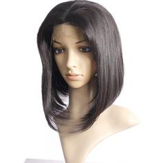 4A non remy Tout droit Cheveux humains Perruques avant en dentelle 300g
