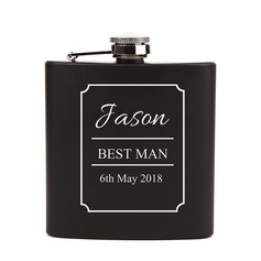 Groomsmen Gifts - Personalized Classic Stainless Steel Flask (258172933)