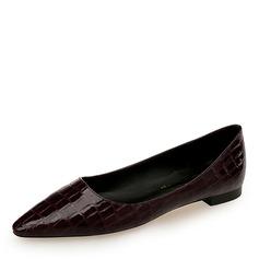 Women's PU Flat Heel Flats Closed Toe shoes