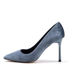 Vrouwen Suede Stiletto Heel Pumps Closed Toe schoenen