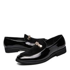 Hombres Cuero Horsebit Mocasines Casual Zapatos de vestir Mocasines de caballero