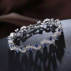 Lysande Zirkon med Zirkon Kvinnor Mode Armband (Säljs i ett enda stycke)