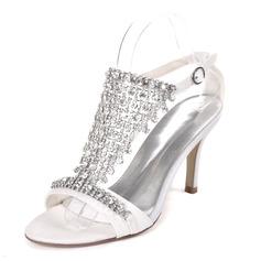 Kvinner Glitrende Glitter Stiletto Hæl Pumps Sandaler med Spenne Rhinestone