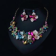 Alloy With Rhinestone Imitation Crystal Jewelry Sets (Set of 2)