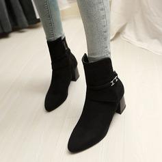 Mulheres Camurça Salto robusto Bombas Botas com Outros sapatos