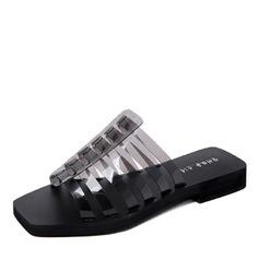 Women's PVC Flat Heel Sandals shoes