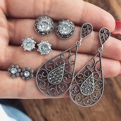 Beautiful Alloy Rhinestones With Rhinestone Women's Fashion Earrings (Set of 4) (137190535)