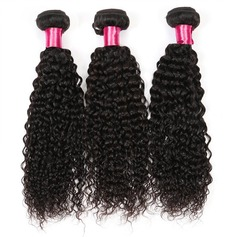 Brazilian Virgin Curly Mid-Length Long Hair Extensions (Sold in a single piece) 100g (219129663)