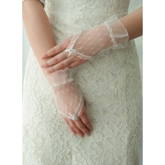 Tulle Wrist Length Bridal Gloves (014125673)