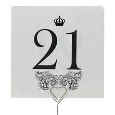 Crown Design Table Number Cards (Set of 10)