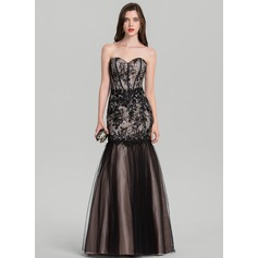 Trumpet/Mermaid Sweetheart Floor-Length Tulle Evening Dress