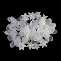 Precioso Flores de seda Flores y plumas (Se venden en una sola pieza) (042131402)