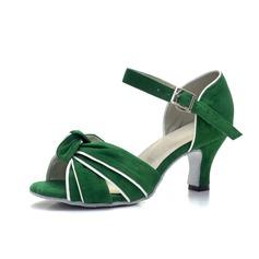 Женщины Замша На каблуках Сандалии Латино с пряжка Обувь для танцев