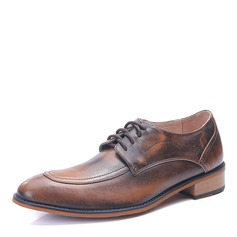 Men's Microfiber Leather Lace-up U-Tip Dress Shoes Men's Oxfords