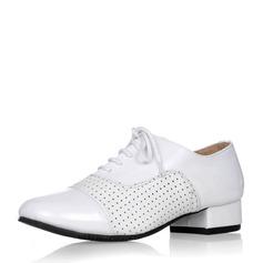 Hommes Vrai cuir Modern Style Salle de bal Swing avec Dentelle Chaussures de danse