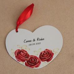 Персонализированные Прекрасная роза Бумага Пригласительные билеты с Ленты (набор из 10)