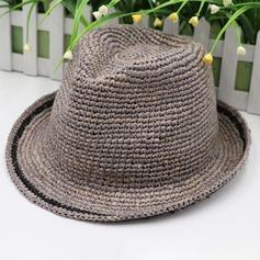 Män Glamorösa/Elegant/Enkel Flätad Sugrör Fedora Hat