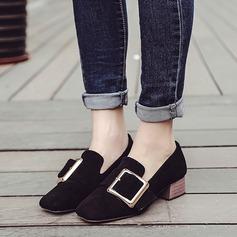 De mujer Ante Tacón bajo Planos con Hebilla zapatos