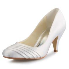 Vrouwen Satijn Stiletto Heel Closed Toe Pumps