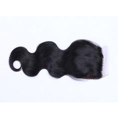 "4""*4"" 4A Nicht remy Körper Menschliches Haar Bedeckung (Einzelstück verkauft) 50g"