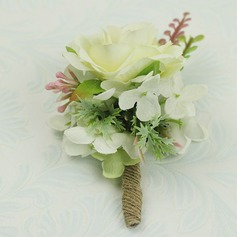 Romantic Satin Boutonniere -