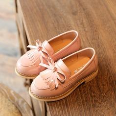 Fille de bébé de Unisexe similicuir talon plat Bout fermé Chaussures plates avec Bowknot Tassel
