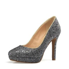 Vrouwen Sprankelende Glitter Stiletto Heel Pumps Plateau met Lovertje schoenen