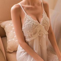 Spets Klassisk stil Feminin Nattkläder