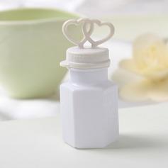 Heart Design Plastic Bubble Bottle (set of 24)