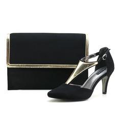 Mode Velours Chaussures et Sacs assortis