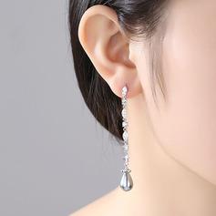 Unique Cuivre/Zircon de Boucles d'oreilles