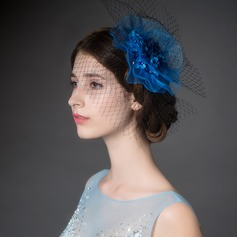 Exquisite Fio rede/Strass Fascinators