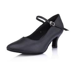 Women's Real Leather Heels Pumps Modern Dance Shoes