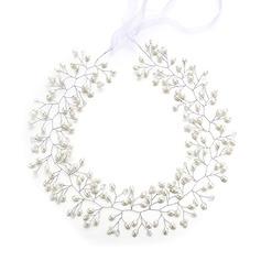 Damer Glamorösa Kristall/Fauxen Pärla Pannband med Venetianska Pärla/Kristall (Säljs i ett enda stycke)