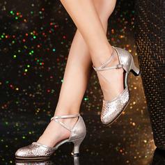 Женщины кожа На каблуках Бальные танцы качать Обувь для танцев