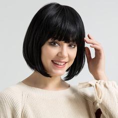 Kinky Straight Menschliches Haar Blend Echthaarperücken 120g