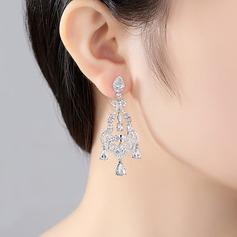 Charme Cuivre/Zircon de Boucles d'oreilles