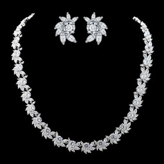 Elegant Copper/Zircon Women's/Ladies' Jewelry Sets (011087296)
