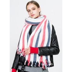 Randig överdimensionerad/mode/Kallt väder Umelé Vlna Halsduk